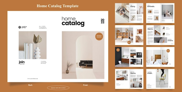 16 pages de brochure du catalogue d'accueil