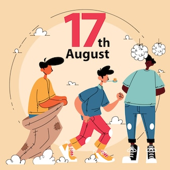 17 août célébration de la fête de l'indépendance de l'indonésie