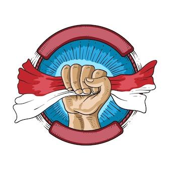17 août indonésie joyeux jour de l'indépendance symbole de l'esprit de liberté