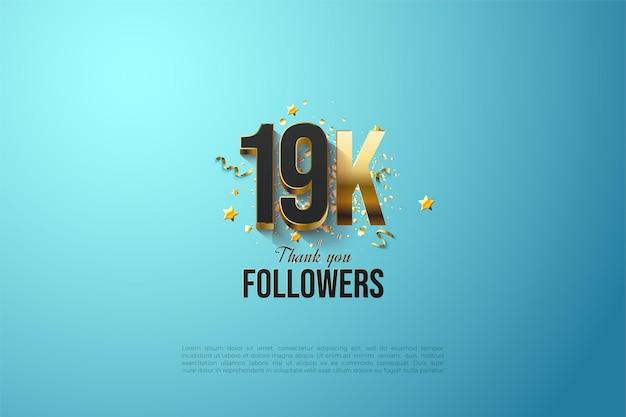 19k abonnés, merci modèle
