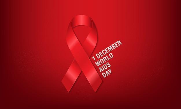 1er décembre, affiche de la journée mondiale du sida.