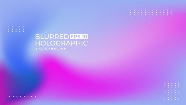 1er design holographique blur simple et moderne adapté à un fond de présentation