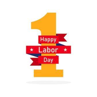 1er mai. journée internationale du travail. carte de voeux