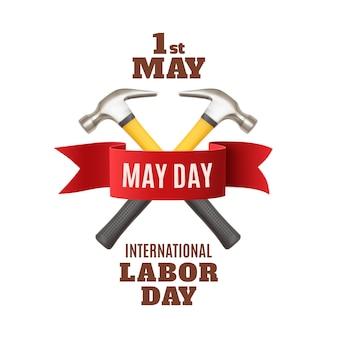 Le 1er mai. modèle de fond de la fête du travail.