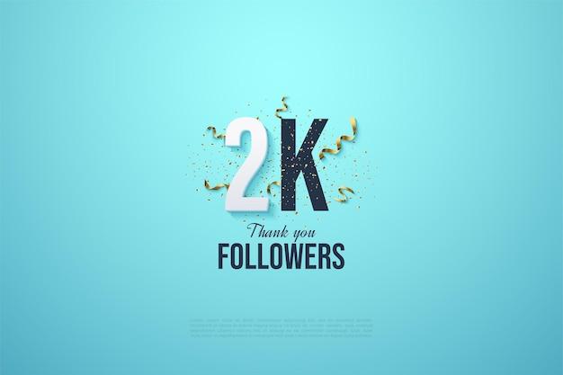 2 000 abonnés avec des chiffres et des festivités