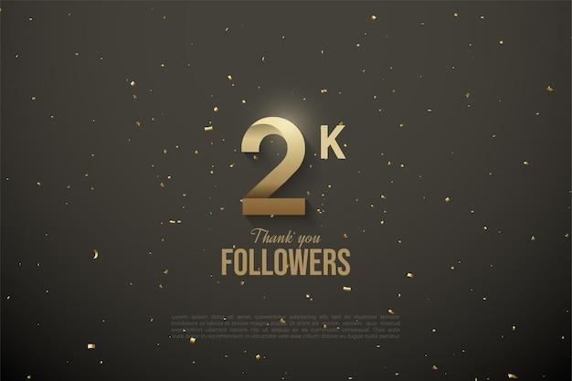 2 000 abonnés avec des numéros à motifs personnalisés