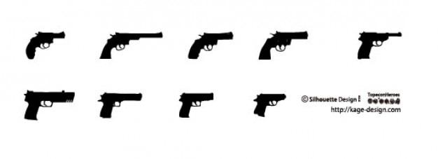 2 armes de poing