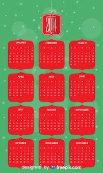 2014 calendrier en couleurs de noël