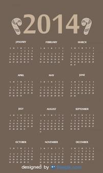 2014 calendrier avec en-tête de bonbons