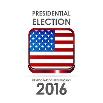 2016 états-unis affiche de l'élection présidentielle eps 10