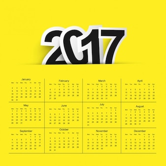 2017 calendar fond