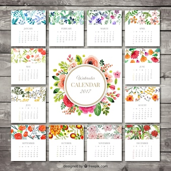 2017 calendrier floral