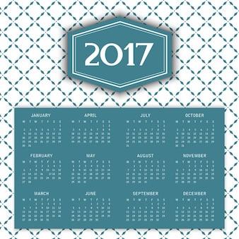 2017 calendrier avec motif décoratif