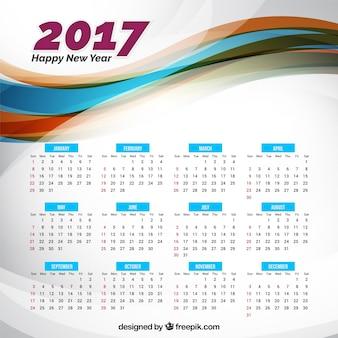 2017 nouveau calendrier de l'année