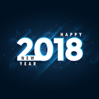 2018 bonne année fond bleu avec effet lumineux