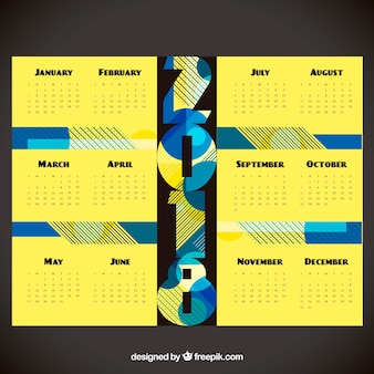 2018 calendrier abstrait