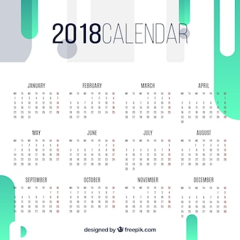 2018 calendrier abstrait