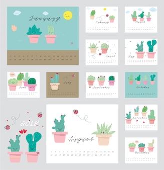 2018 calendrier des cactus