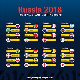 2018 conception de coupe de football avec des groupes