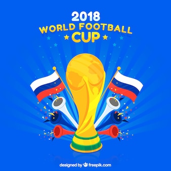 2018 fond de la coupe du monde de football