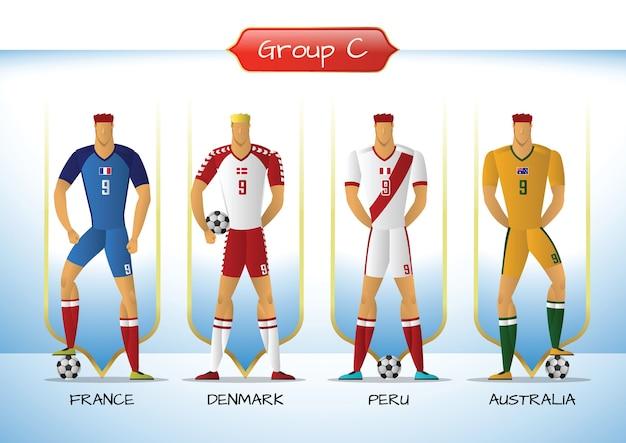 2018 groupe d'uniforme de soccer ou de football, groupe c