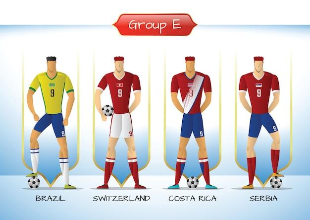 2018 groupe d'uniformes de soccer ou de football e