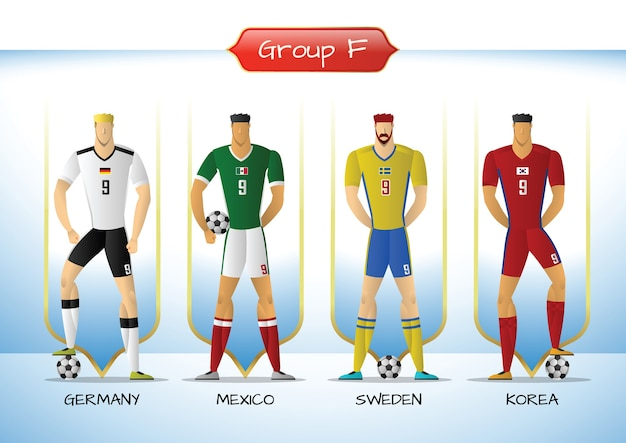 2018 groupe d'uniformes de soccer ou de football f