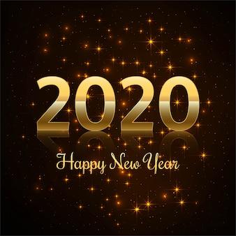 2019 bonne année or brillant