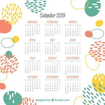 2019 calendrier abstrait