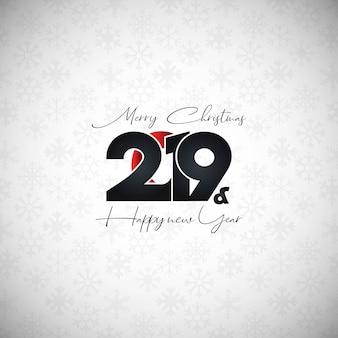 2019 nouvel an design typographique vecteur