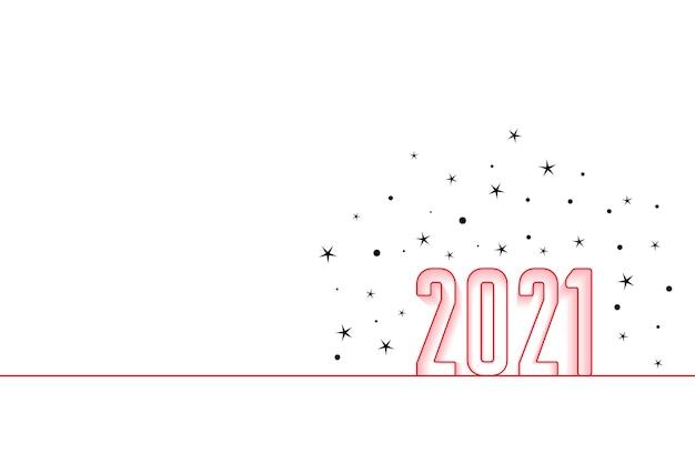 2021 fond minimal de nouvel an hapy avec des étoiles