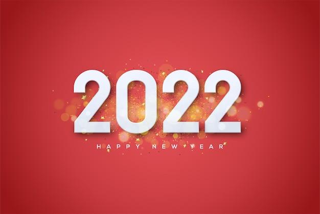 2022 bonne année avec des ombres de lumières dorées