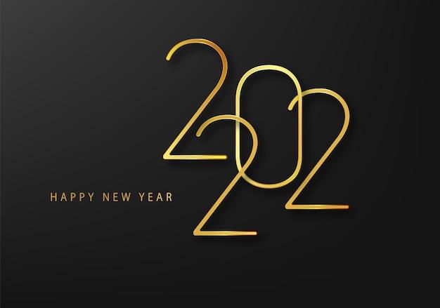 2022 nouvel an. modèle de texte minimaliste pour la conception de vacances.