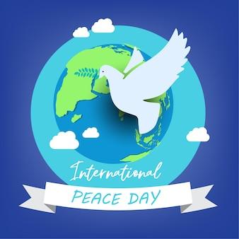 21 septembre, journée internationale de la paix. le concept d'illustration présente le monde de la paix.