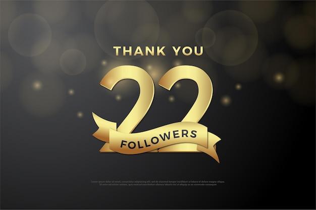 22k followers avec nombres d'or et ruban