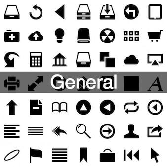 233 général icône ensemble