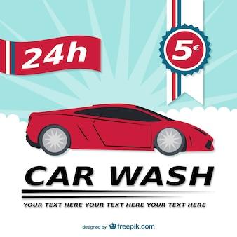 24h modèle de lavage de voiture