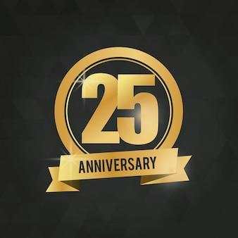 25 ans de célébration de l'anniversaire