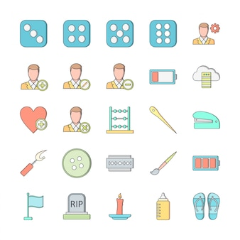 25 icon set universel pour usage personnel et commercial ...