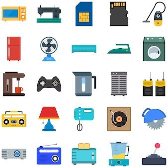 25 icônes d'appareils électroniques