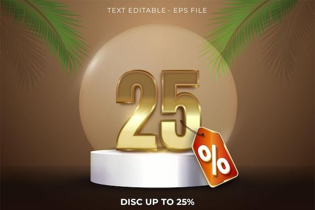 25 pour cent de réduction sur la conception 3d d'été sur la scène du podium du produit