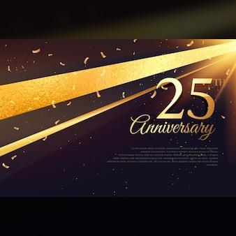 25e anniversaire modèle de carte de célébration
