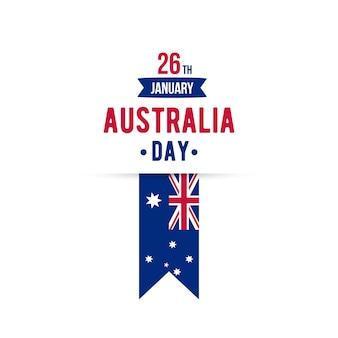 26 janvier élément de conception de typographie happy australia day. bannière de vecteur.