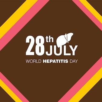 28e juillet mondiale hépatite jour fond