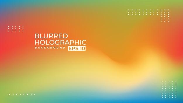 2ème design holographique blur simple et moderne adapté à un arrière-plan de présentation