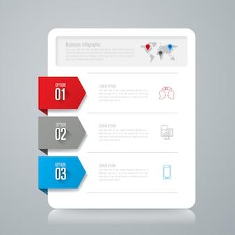 3 éléments infographiques commerciaux pour la présentation