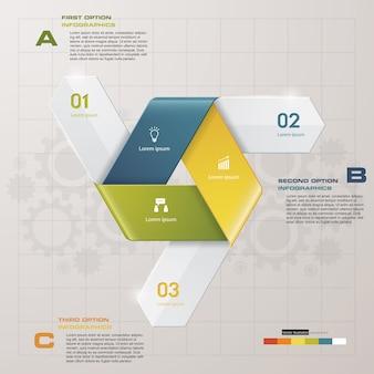 3 étapes de la flèche infografics template