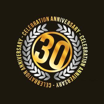 30 ans de conception de vecteur de célébrations
