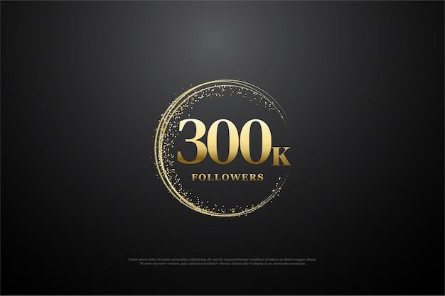 300 000 adeptes avec du sable d'or circulaire et des chiffres