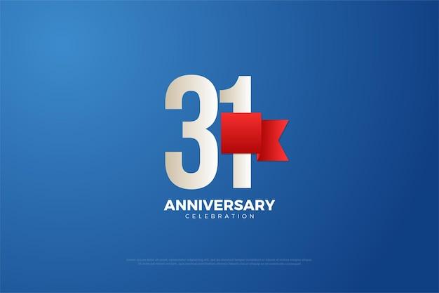 31e anniversaire avec des chiffres assez plats